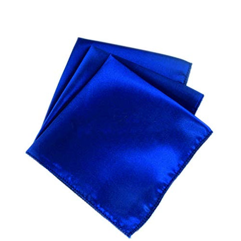 "mds Pack of 10 Wedding Satin 20"" X 20"" Heavy Duty Table Linen Napkin or Handkerchief Dinner Napkins for Wedding Banquet,Home Parties Decoration - Royal Blue"
