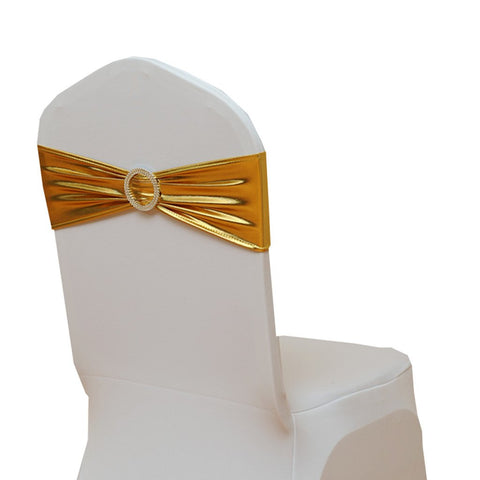 Fvstar Gold 20pcs Wedding Chair Sashes Party Chairs Bows Banquet Chair Ribbons for Baby Shower Birthday Valentines Decorations Without White Covers