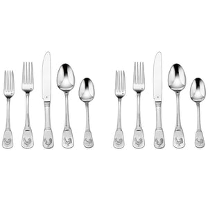 2-Pack of 20-Piece Flatware Set, French Rooster (CFE-01-FR20)