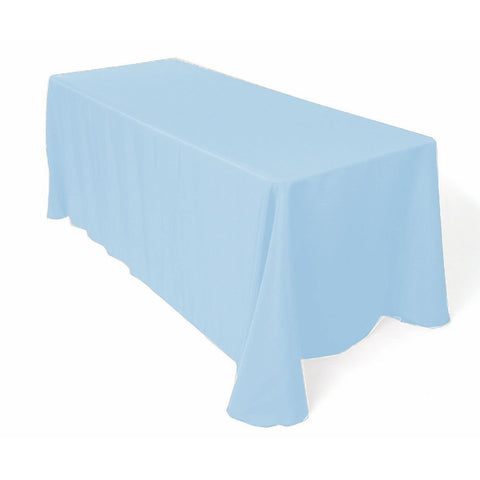 Gee Di Moda Rectangle Tablecloth - 90 x 156 Inch - Baby Blue Rectangular Table Cloth for 8 Foot Table in Washable Polyester - Great for Buffet Table, Parties, Holiday Dinner, Wedding & More