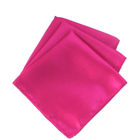 "mds Pack of 50 Wedding Satin 12""X 12"" Square Dinner Napkin or Handkerchief for Wedding Banquet Decoration - Magenta"
