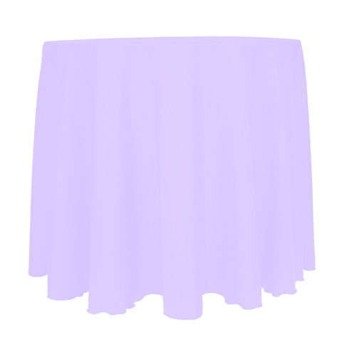Ultimate Textile -2 Pack- Reversible Shantung Satin - Majestic 120-Inch Round Tablecloth, Lilac Light Purple
