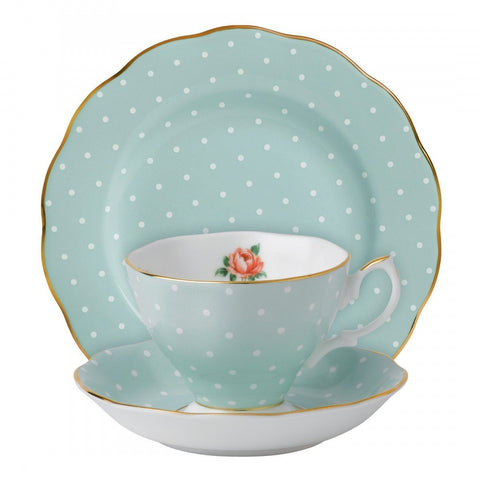 Royal Albert Polka Rose Vintage 3-Piece Place Setting