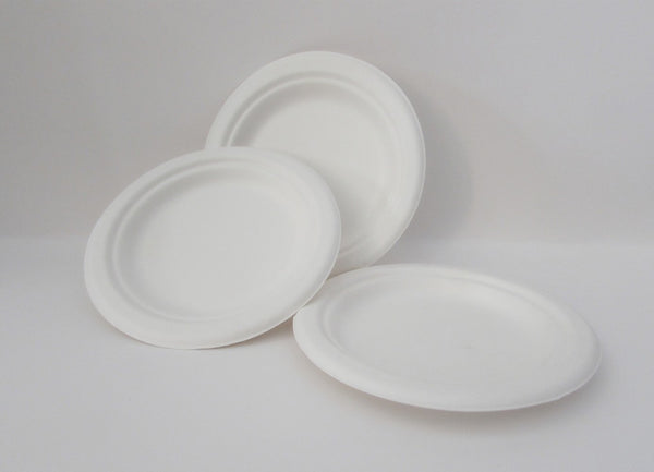 Go-Green Eco-Friendly 100% compostable, Sugarcane Fiber, Disposable 10-Inch Plate, 500 Count