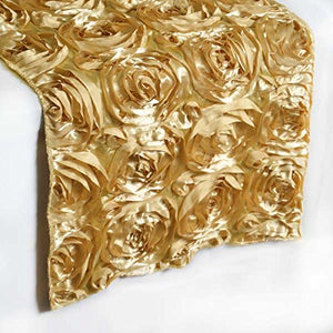 Efavormart Wonderland Rosette Premium Table Runners for Weddings Party Banquets Decor Fit Rectangle and Round Table - Champagne