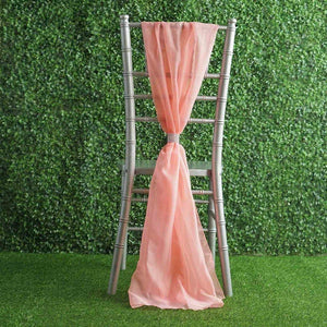 20 pcs Premium Chiffon Wide Chair Sashes for Wedding Party Decorations Supplies (Rose Quartz Pink)