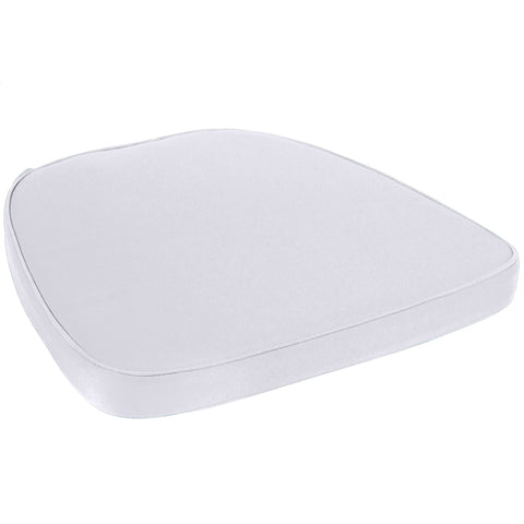 Prime Products Silver Chair Pad | Seat Padded Cushion |Polycore Thread Soft Fabric, Straps and Removable Zippered Cover