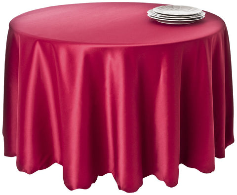 SARO LIFESTYLE LN201 Round Tablecloth Liners, 120-Inch, Red