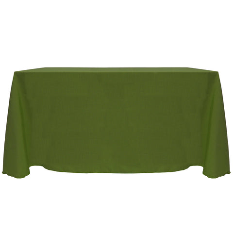 Ultimate Textile -2 Pack- Reversible Shantung Satin - Majestic 90 x 156-Inch Rectangular Tablecloth, Moss Green