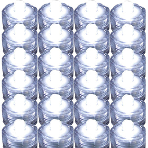 TDLTEK Waterproof Submersible Led Lights Tea Lights for Wedding, Party, Decoration (24 Pieces White)