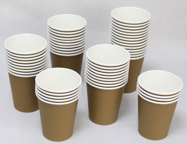 Hot Party Paper Cups, 8 Ounce, 50 Count, Multiple Colors (Brown)