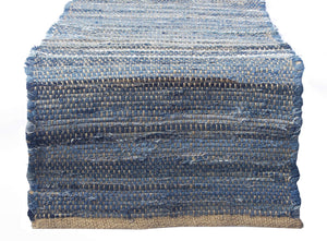 "Chardin home Eco Friendly Recycled Denim/Jute Table Runner, size: 14""x72"""