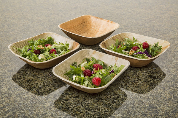 "Leafware Square Deep Bowls (25 Pack), 6.5"", Natural"
