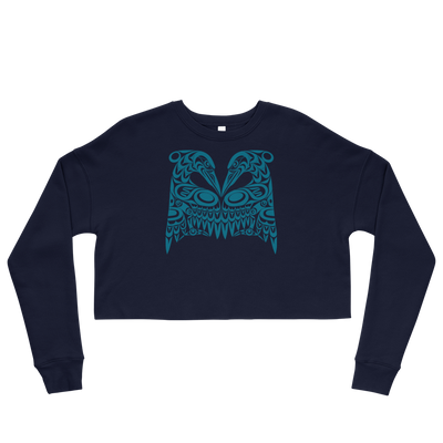 Dual Herons - Women's Cropped Sweatshirt | Salish.Design: Coast Salish Art Clothing