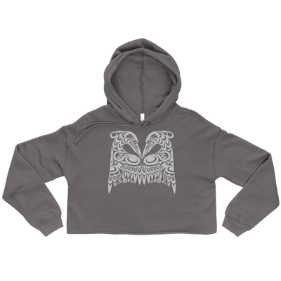 Dual Herons - Women's Cropped Hoodie | Salish.Design: Coast Salish Art Clothing