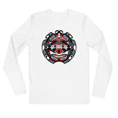 Two-Headed Serpent - Men's Long Sleeve Fitted T-Shirt | Salish.Design: Coast Salish Art Clothing