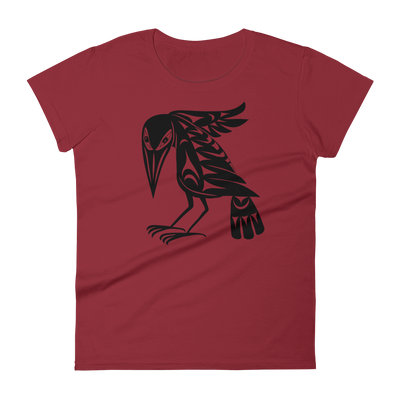 Raven - Fashion Fit T-shirt | Salish.Design: Coast Salish Art Clothing