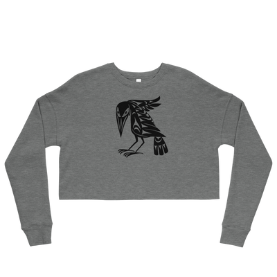 Raven - Cropped Sweatshirt | Salish.Design: Coast Salish Art Clothing
