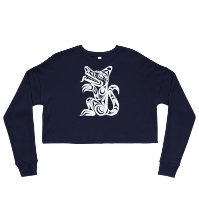Wolf - Cropped Sweatshirt | Salish.Design: Coast Salish Art Clothing