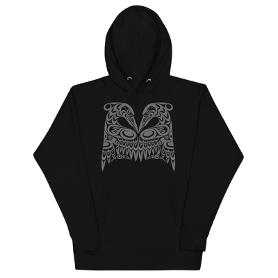 Dual Herons - Premium Unisex Hoodie | Salish.Design: Coast Salish Art Clothing