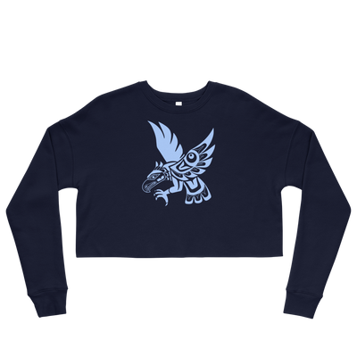 Hawk - Women's Cropped Sweatshirt | Salish.Design: Coast Salish Art Clothing