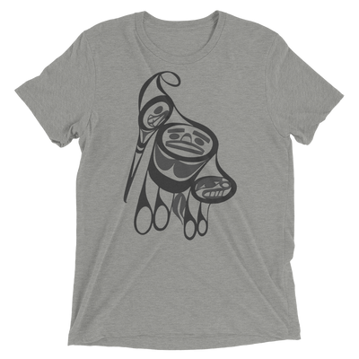 Precious Hummingbird - Tri-Blend Unisex T-Shirt | Salish.Design: Coast Salish Art Clothing