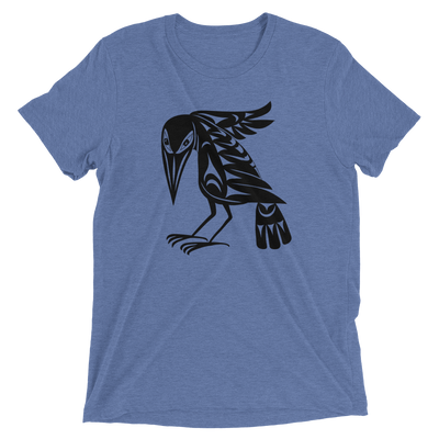 Raven - Tri-Blend Unisex T-Shirt | Salish.Design: Coast Salish Art Clothing