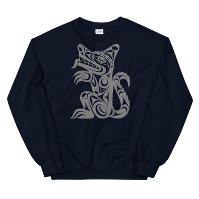 Wolf - Classic Unisex Sweatshirt | Salish.Design: Coast Salish Art Clothing