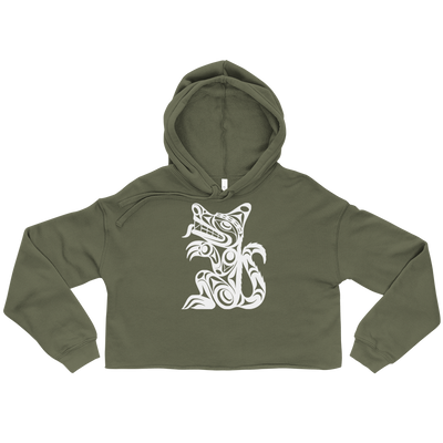 Wolf - Cropped Hoodie | Salish.Design: Coast Salish Art Clothing