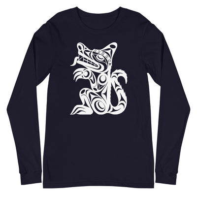 Wolf - Classic Unisex Long Sleeve Tee | Salish.Design: Coast Salish Art Clothing