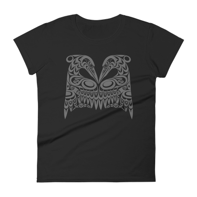 Dual Herons - Women's Fashion Fit T-Shirt | Salish.Design: Coast Salish Art Clothing
