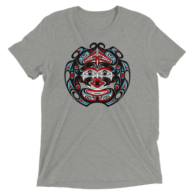 Two-Headed Serpent - Tri-Blend Unisex T-Shirt | Salish.Design: Coast Salish Art Clothing