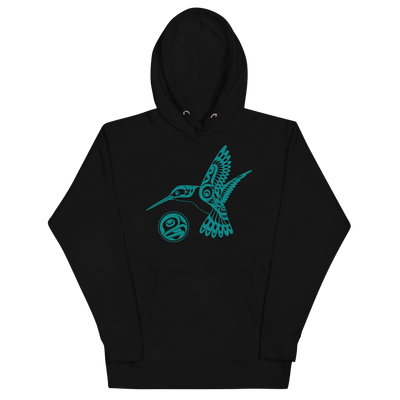 Hummingbird - Premium Unisex Hoodie | Salish.Design: Coast Salish Art Clothing