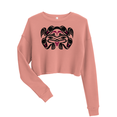 Chief Tzouhalem Transformed - Woman's Cropped Sweatshirt | Salish.Design: Coast Salish Art Clothing