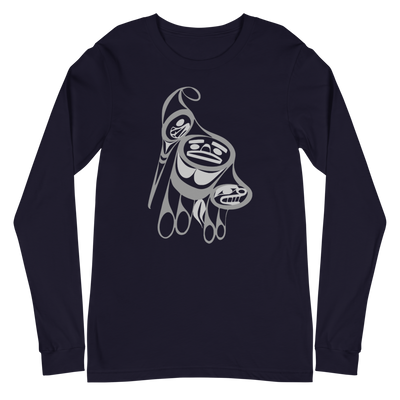 Precious Hummingbird - Unisex Long Sleeve T-Shirt | Salish.Design: Coast Salish Art Clothing