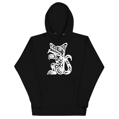Wolf - Premium Unisex Hoodie | Salish.Design: Coast Salish Art Clothing