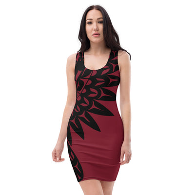 Praying Raven - Cut & Sew Dress | Salish.Design: Coast Salish Art Clothing