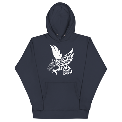 Hawk - Premium Unisex Hoodie | Salish.Design: Coast Salish Art Clothing