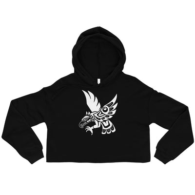 Hawk - Cropped Hoodie | Salish.Design: Coast Salish Art Clothing