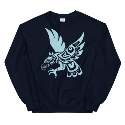 Hawk - Classic Unisex Sweatshirt | Salish.Design: Coast Salish Art Clothing