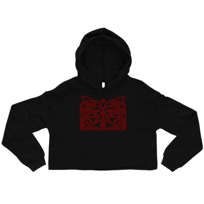 Gurdian Spirit Vision - Cropped Hoodie | Salish.Design: Coast Salish Art Clothing