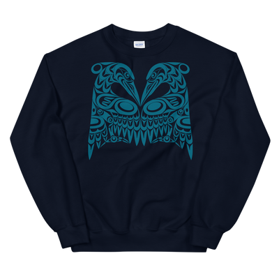 Dual Herons - Classic Unisex Sweatshirt | Salish.Design: Coast Salish Art Clothing