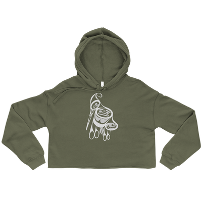 Precious Hummingbird - Cropped Hoodie | Salish.Design: Coast Salish Art Clothing