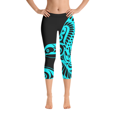 Hummingbird - Capri Leggings | Salish.Design: Coast Salish Art Clothing