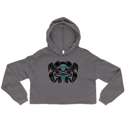 Chief Tzouhalem Transformed - Woman's Cropped Hoodie | Salish.Design: Coast Salish Art Clothing
