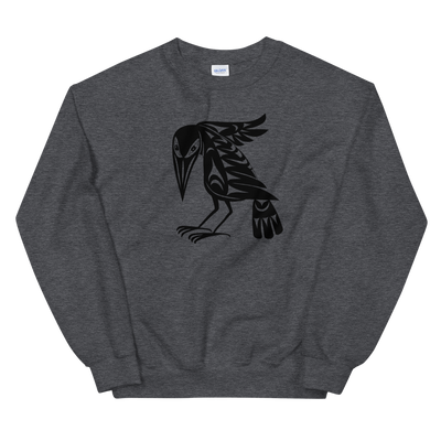 Raven - Classic Unisex Sweatshirt | Salish.Design: Coast Salish Art Clothing