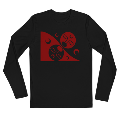 Patron - Men's Long Sleeve Fitted T-Shirt | Salish.Design: Coast Salish Art Clothing