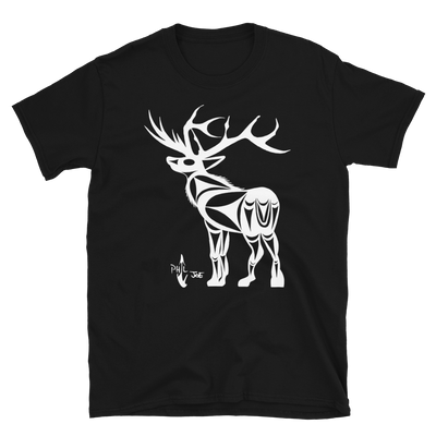 Elk - Unisex Coast Salish T-Shirt | Salish.Design: Coast Salish Art Clothing