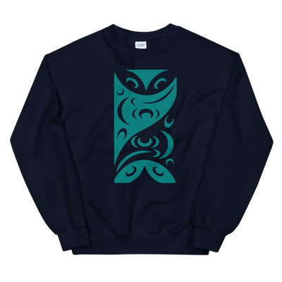 Redefining Each Other - Classic Unisex Sweatshirt | Salish.Design: Coast Salish Art Clothing