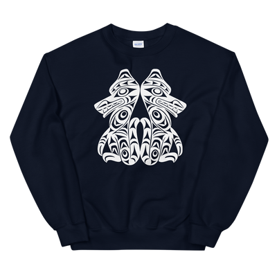 Brother Wolves - Classic Unisex Sweatshirt | Salish.Design: Coast Salish Art Clothing